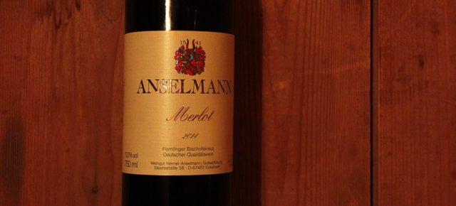 Anselmann Merlot - ein solider Rotwein aus der Pfalz
