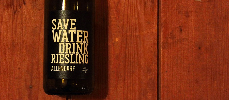 save water drink riesling allendorf